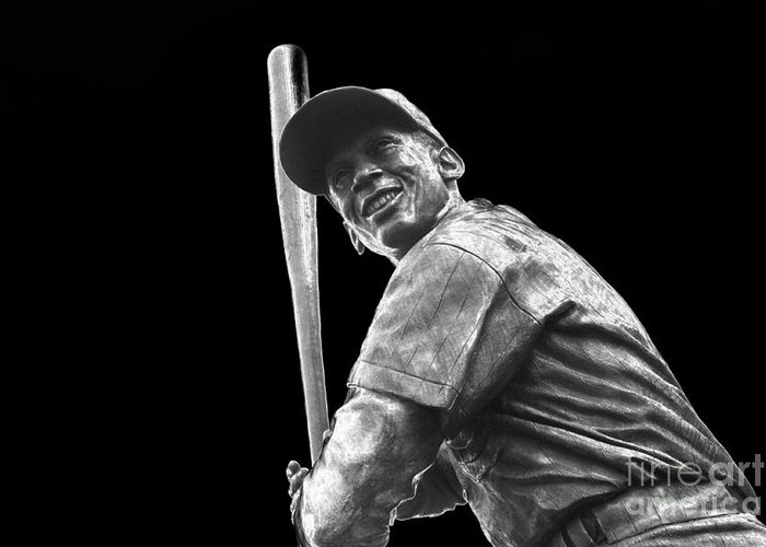 Ernie Banks Greeting Card featuring the photograph Mr. Cub by David Bearden