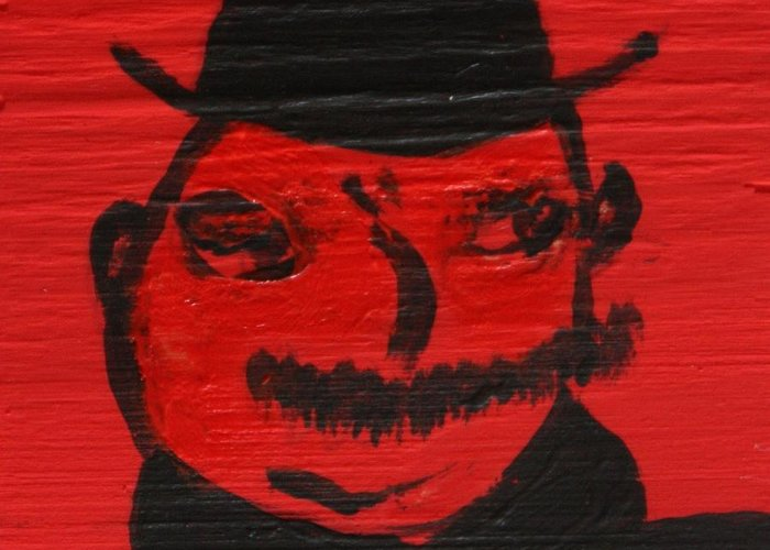Ulysses Greeting Card featuring the painting Mr Poldy Bloom by Roger Cummiskey