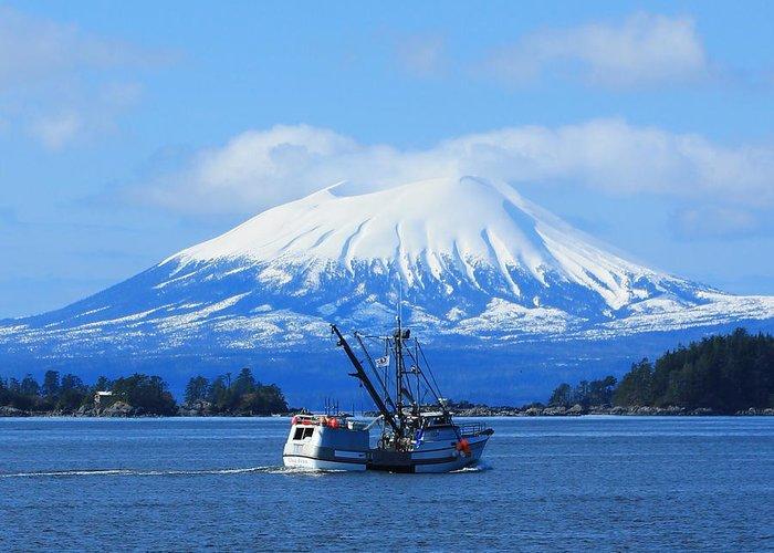 Sitka Alaska Greeting Card featuring the photograph Mt E. At Herring Season by Ashley Kinney-Maravilla