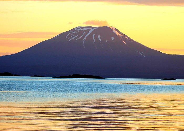 Sitka Alaska Greeting Card featuring the photograph Mt. Edgecombe Bright Sunset by Ashley Kinney-Maravilla