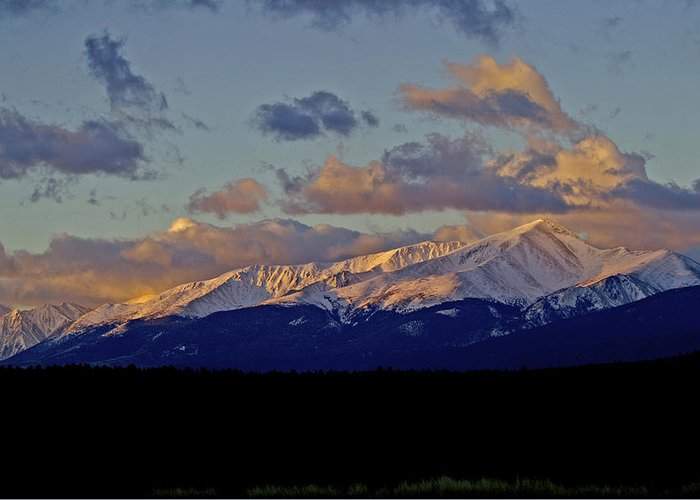 Colorado Greeting Card featuring the photograph Mt Elbert Sunrise by Jeremy Rhoades