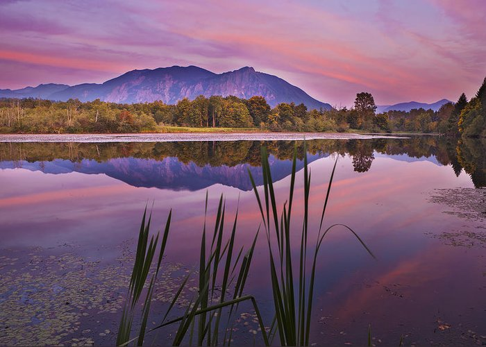 Mt. Si Greeting Card featuring the photograph Mt. Si Colors by Manju Shekhar