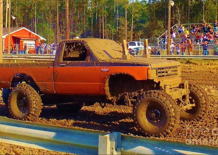 Mud Trucks For Sale >> Mud Truck Greeting Card