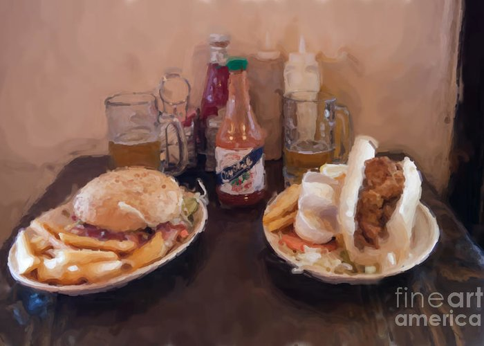 New Orleans Greeting Card featuring the photograph Muffaletta And Po-boy by Kay Pickens