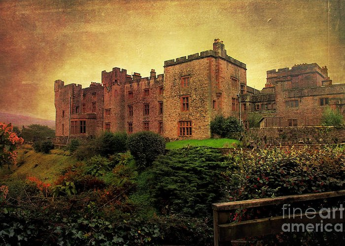 Castle Greeting Card featuring the photograph Muncaster Castle by Wobblymol Davis