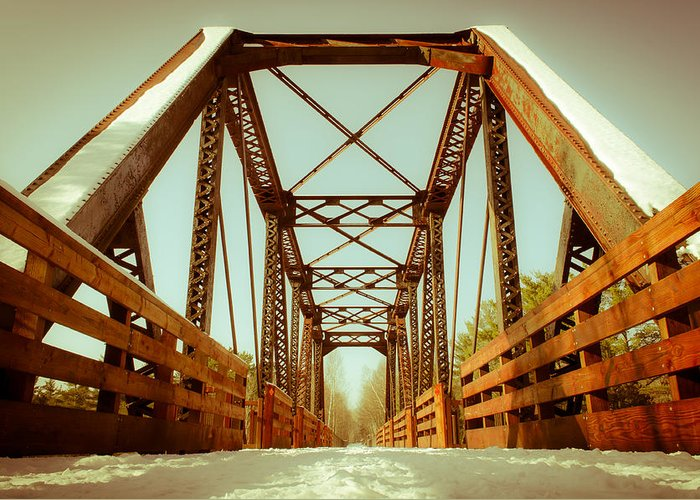 Minnesota Greeting Card featuring the photograph Munger Trail Crossing by Ever-Curious Photography