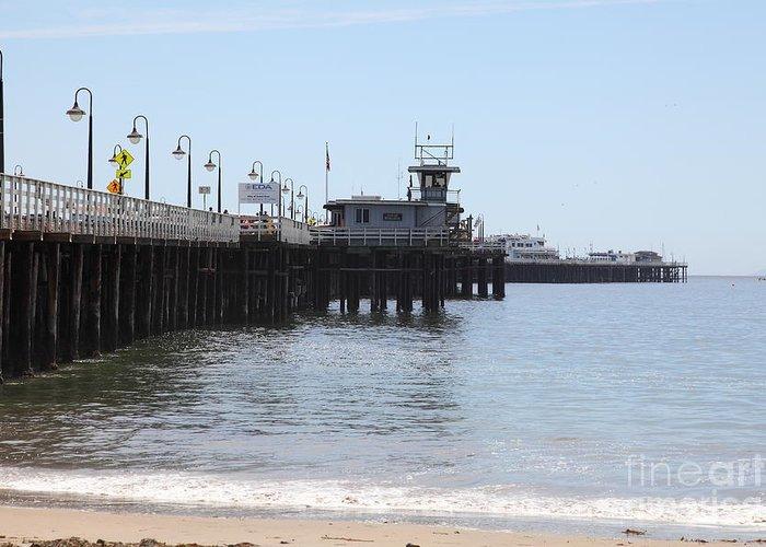 California Greeting Card featuring the photograph Municipal Wharf At The Santa Cruz Beach Boardwalk California 5d23767 by Wingsdomain Art and Photography