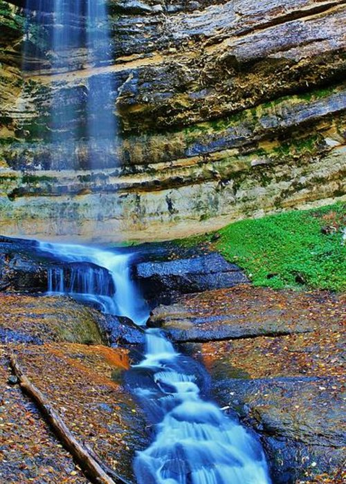 Burland Greeting Card featuring the photograph Munising Falls by Burland McCormick