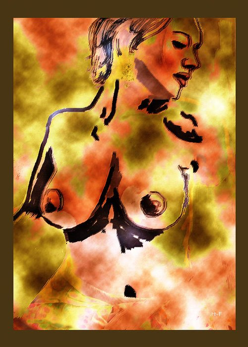 Art Nude Greeting Card featuring the digital art Muse by Herbert French