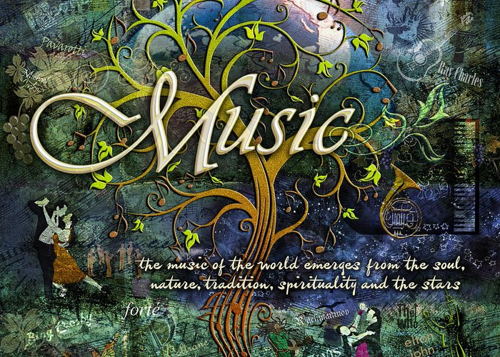 Music Greeting Card featuring the photograph Music by Evie Cook