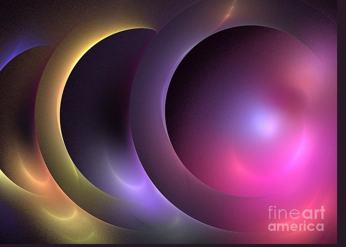 Apophysis Greeting Card featuring the digital art Music Of The Spheres by Kim Sy Ok
