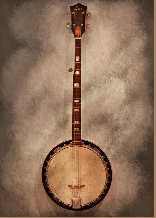 Instrument Greeting Card featuring the photograph Music - String - Banjo by Mike Savad