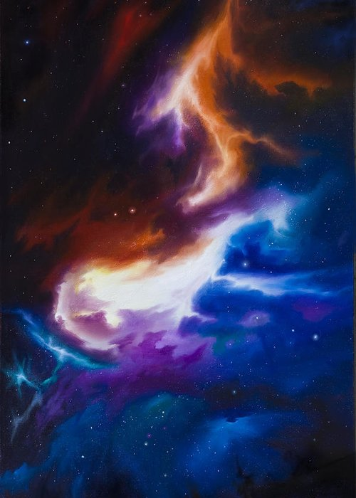 James C. Hill Greeting Card featuring the painting Mutara Nebula by James Christopher Hill