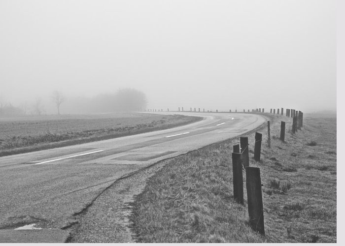 Road Greeting Card featuring the photograph Mute Landscape by Odd Jeppesen