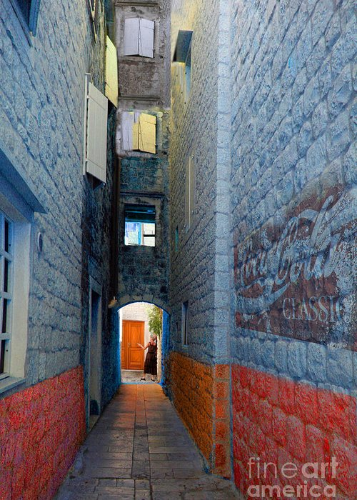 Buildings Greeting Card featuring the digital art My Alley by Angelika Drake