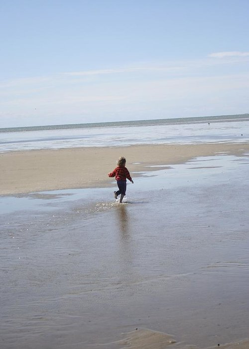 Child Greeting Card featuring the photograph My Beach by Bill Zajac