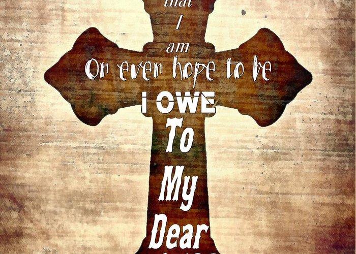 Jesus Greeting Card featuring the digital art My Dear Savior by Michelle Greene Wheeler
