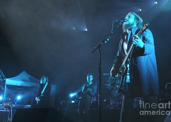 Pictures Greeting Card featuring the photograph My Morning Jacket - Jim James by Concert Photos