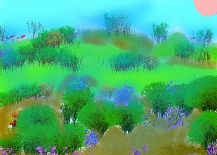 Morning Greeting Card featuring the digital art My Morning Window View by Dr Loifer Vladimir