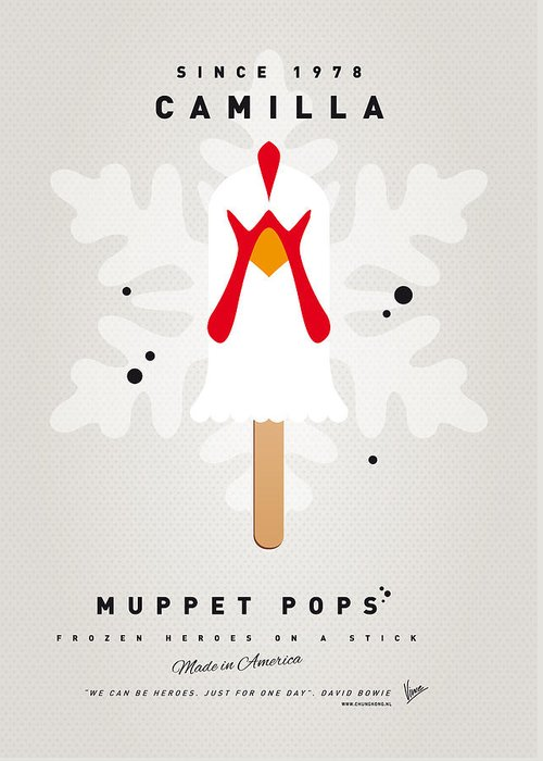 Muppets Greeting Card featuring the digital art My Muppet Ice Pop - Camilla by Chungkong Art