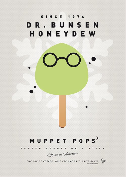 Muppets Greeting Card featuring the digital art My Muppet Ice Pop - Dr Bunsen Honeydew by Chungkong Art