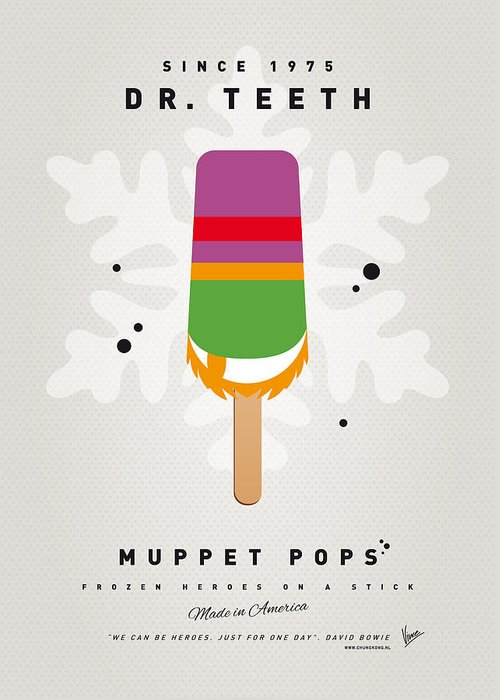 Muppets Greeting Card featuring the digital art My Muppet Ice Pop - Dr Teeth by Chungkong Art