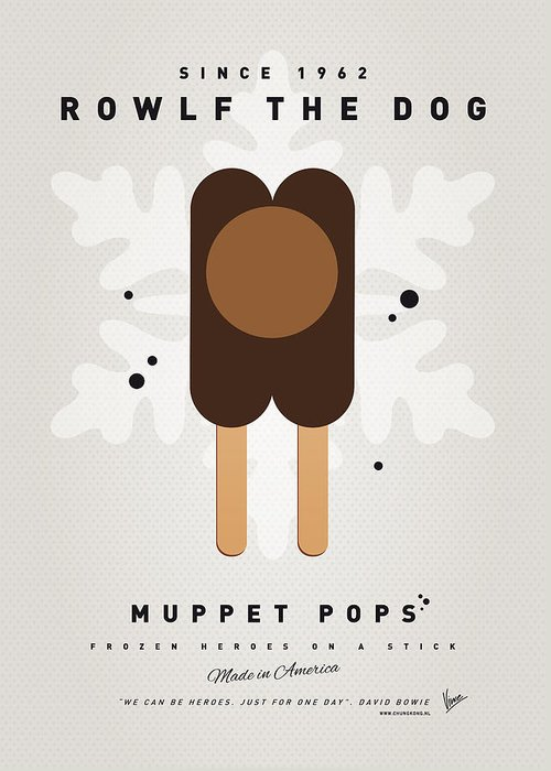 Muppets Greeting Card featuring the digital art My Muppet Ice Pop - Rowlf by Chungkong Art