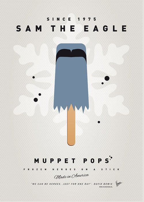 Muppets Greeting Card featuring the digital art My Muppet Ice Pop - Sam The Eagle by Chungkong Art