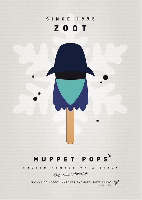 Muppets Greeting Card featuring the digital art My Muppet Ice Pop - Zoot by Chungkong Art