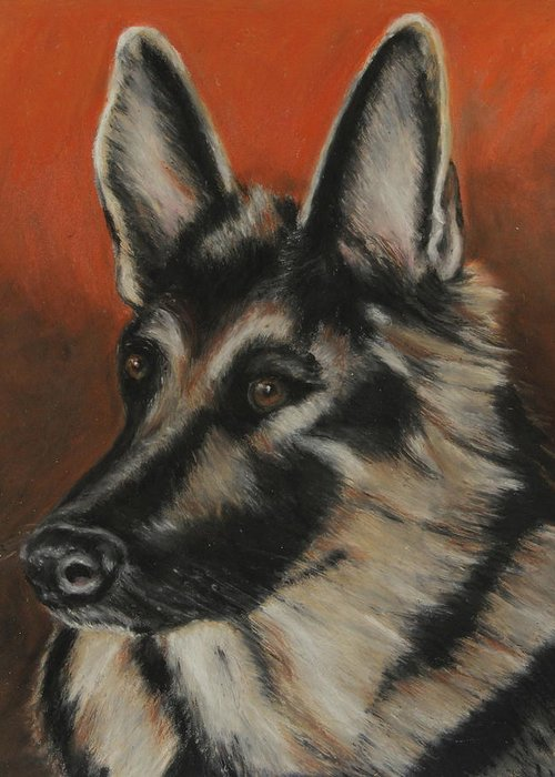 Animal Greeting Card featuring the painting My Sadie by Jeanne Fischer