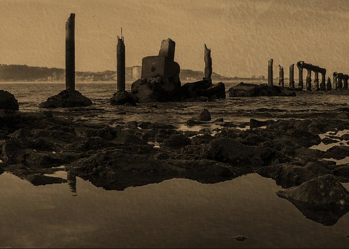 My Sea Of Ruins Greeting Card featuring the photograph My Sea Of Ruins IIi by Marco Oliveira