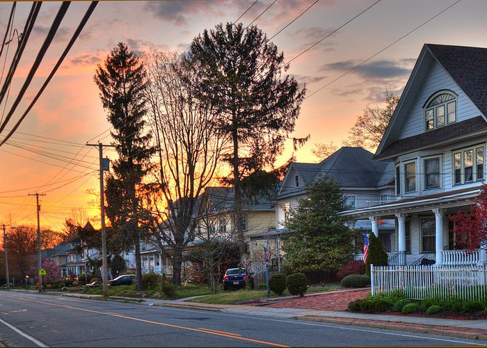 Landscape Greeting Card featuring the photograph My Street by Robert Culver