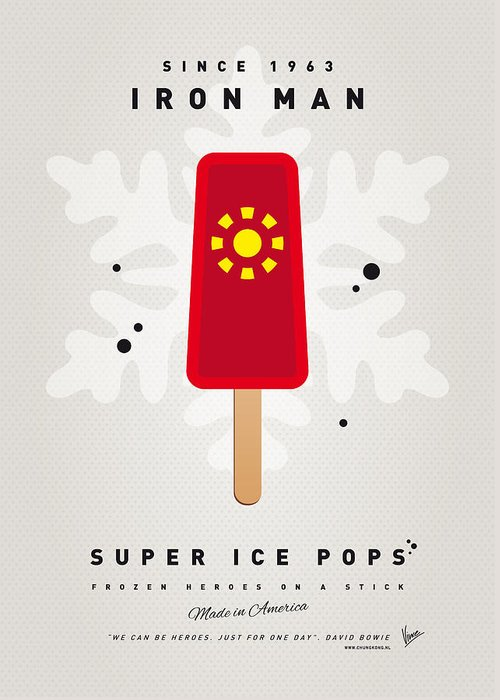 Superheroes Greeting Card featuring the digital art My Superhero Ice Pop - Iron Man by Chungkong Art