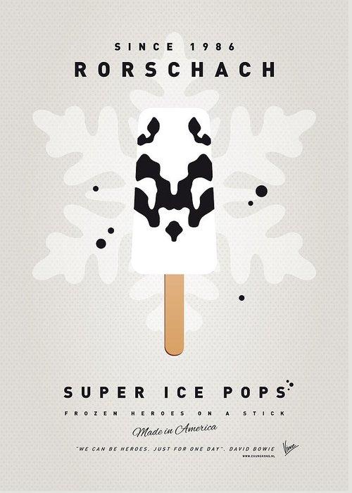 Superheroes Greeting Card featuring the digital art My Superhero Ice Pop - Rorschach by Chungkong Art