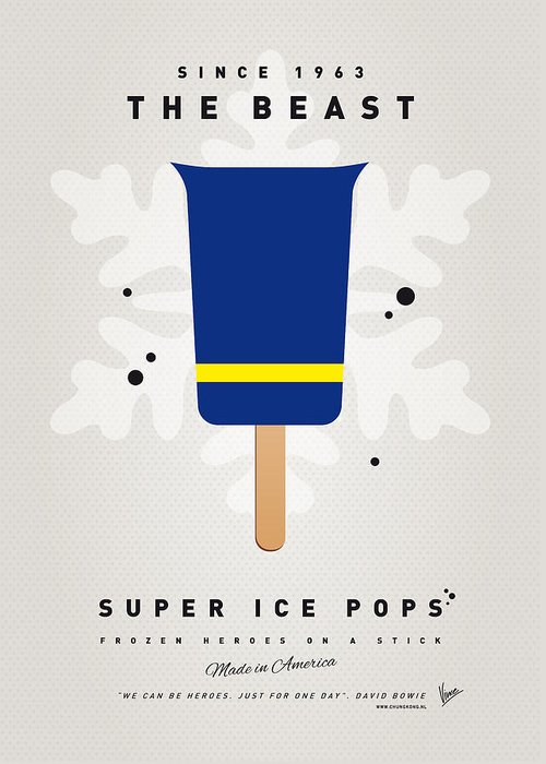 Superheroes Greeting Card featuring the digital art My Superhero Ice Pop - The Beast by Chungkong Art