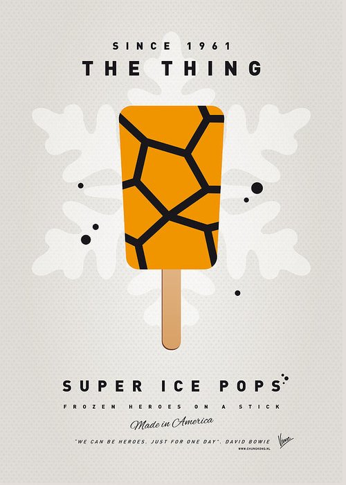Superheroes Greeting Card featuring the digital art My Superhero Ice Pop - The Thing by Chungkong Art
