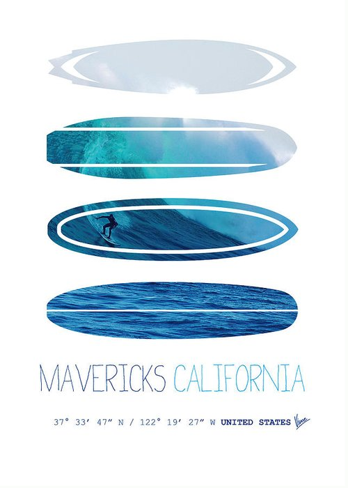 California Big Wave Surf Greeting Cards