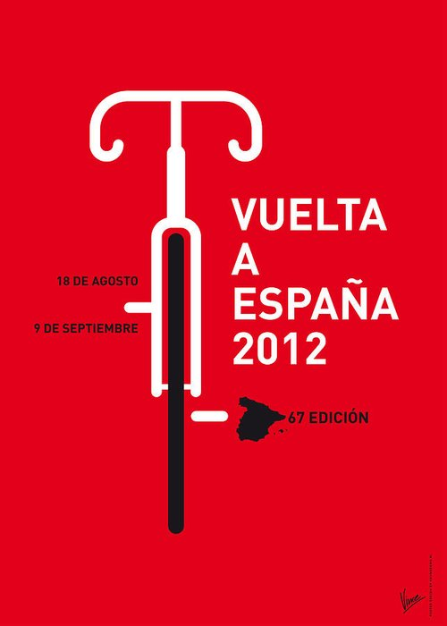 2012 Greeting Card featuring the digital art My Vuelta A Espana Minimal Poster by Chungkong Art