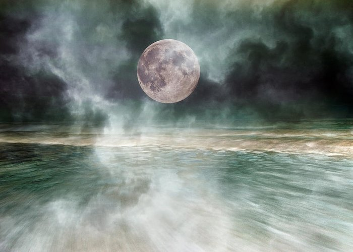 Topsail Greeting Card featuring the photograph Mystical Beach Moon by Betsy C Knapp