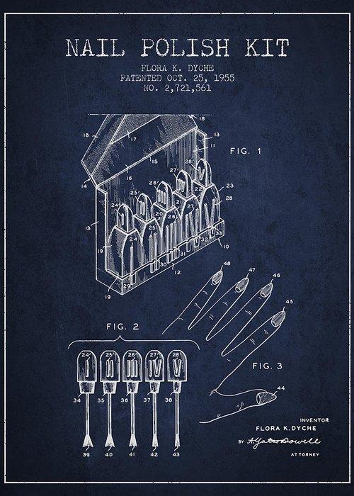 Fingernail Polish Greeting Cards
