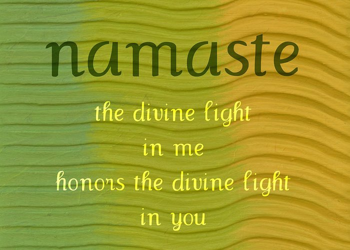 Namaste Greeting Card featuring the painting Namaste by Michelle Calkins