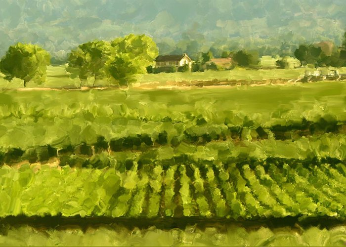 Calistoga Paintings Greeting Cards
