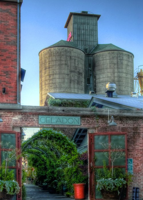 Napa. Napa Mill Greeting Card featuring the photograph Napa Mill by Bill Gallagher