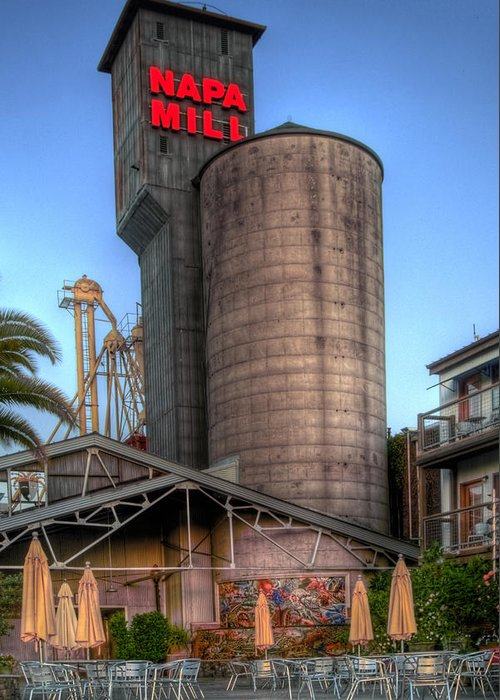 Mill Greeting Card featuring the photograph Napa Mill II by Bill Gallagher