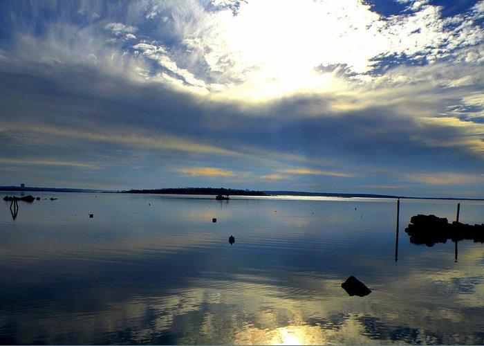 Narragansett Bay Greeting Card featuring the photograph Narragansett Bay by Joseph C Santos