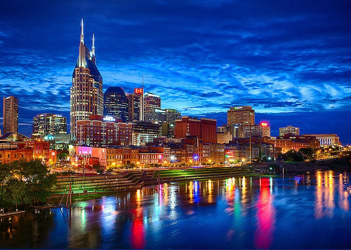 Nashville Skyline Greeting Cards