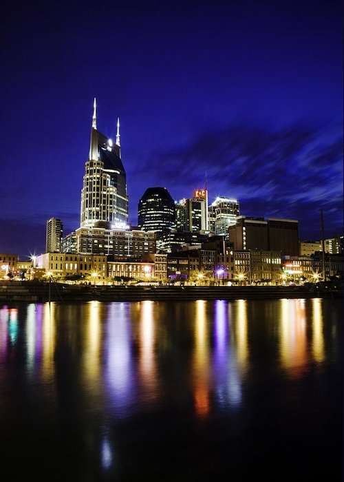 Nashville Greeting Card featuring the photograph Nashville Skyline by Lucas Foley