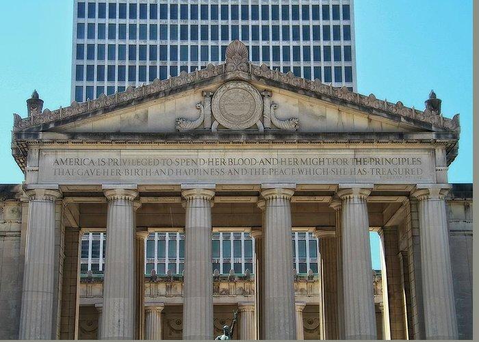 Nashville War Memorial Auditorium Greeting Card featuring the photograph Nashville War Memorial Auditorium by Dan Sproul