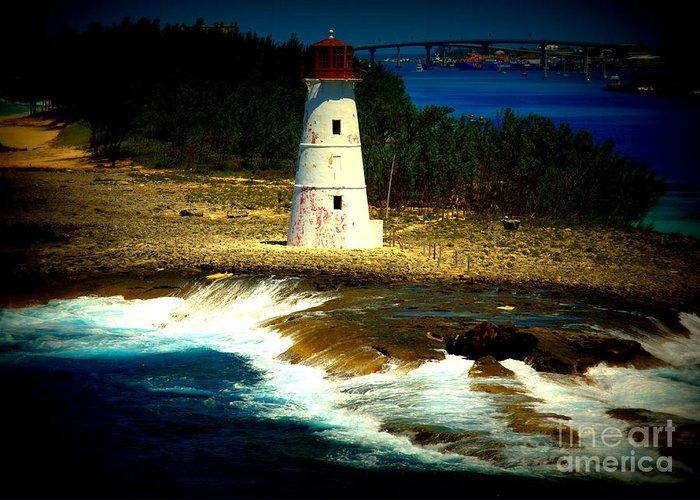 Nassau Greeting Card featuring the photograph Nassau Lighthouse by John Marois