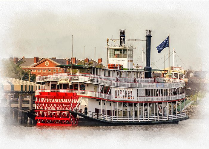 Nola Greeting Card featuring the photograph Natchez Sternwheeler Paint by Steve Harrington
